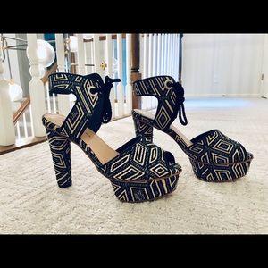 Loeffler Randall   Dita Jacquard Platform Sandal